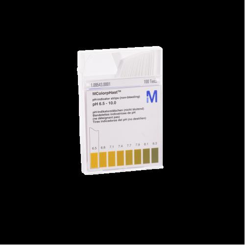 pH strips 6.5-10 - Box of 100